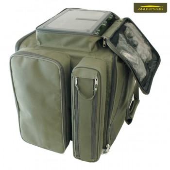 Рибальська сумка коропова (2 коробки, 8 котушок і аксесуари) РСК-2