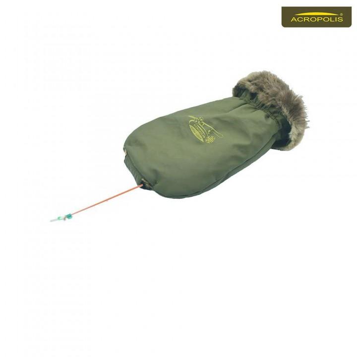 Рукавиця з хутром бобра для зимової рибалки ЧРЗ-4