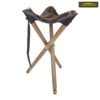 Стул с сиденьем из натурального меха нутрии для охотников СТ-1хн