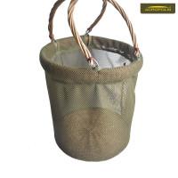 Складний кошик (відро) для грибів з сітки і лози ВГ-2