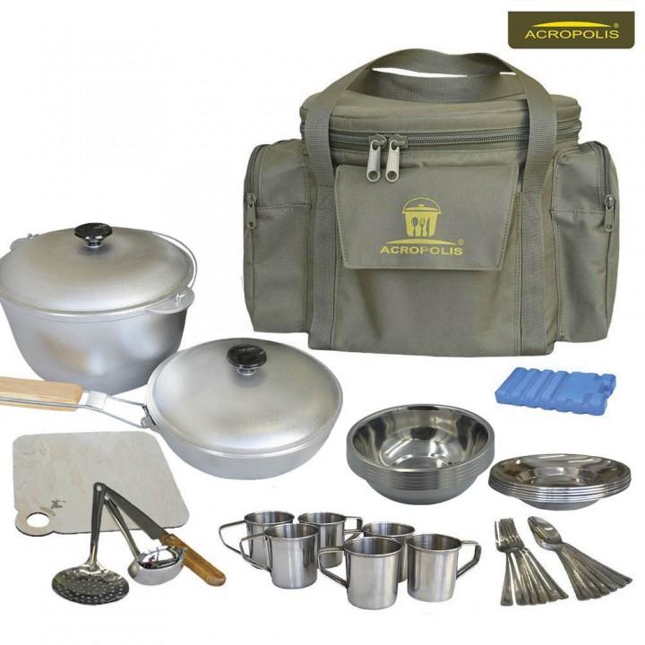 Набір для пікніка (посуд на 6 персон та сумка з термовідділенням) СДП-1